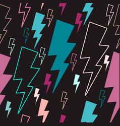lightning seamless pattern colored lightning vector image