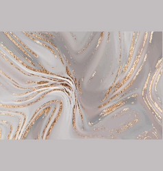 Liquid gold brown marble canvas abstract vector