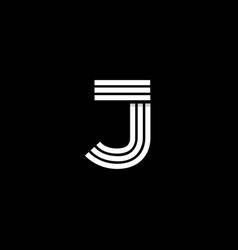 logo letter j vector image