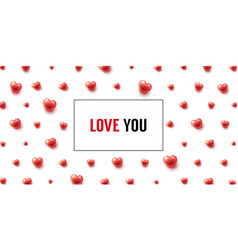 love you background vector image