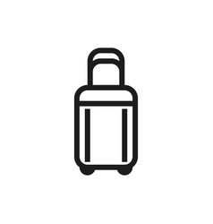 luggage icon on white background vector image