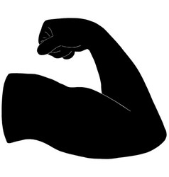 mans arm flexing vector image