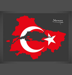 Marmara turkey map vector
