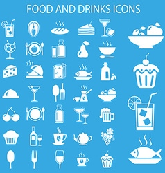 Meal icons vector