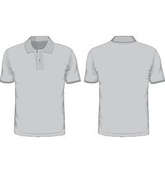 Mens polo-shirts template Front and back views vector