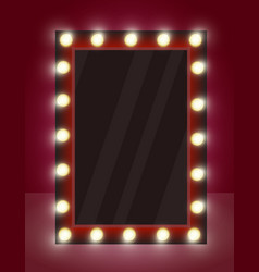 mirror with lamps in vector image