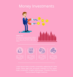 money investment visualization vector image