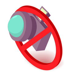 no camera icon isometric 3d style vector image