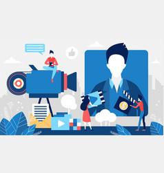 Online video stream concept multimedia cinema vector