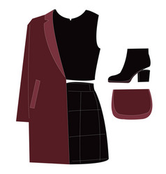 Outfit day vector