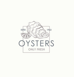 Oyster shell label vector