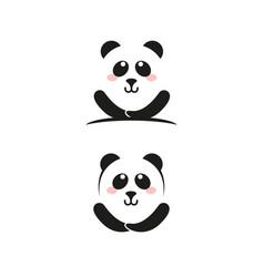 panda icon template vector image