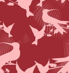 paradise birds vector image