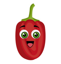 Peppers vegetables comic character vector