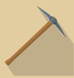 pickaxe with wooden handle vector image