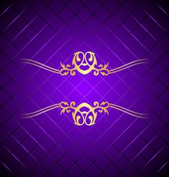 Purple gold background square vector
