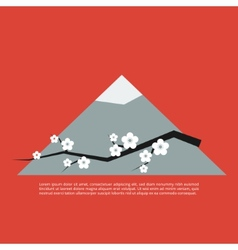 Sakura blossom greeting card vector image