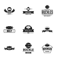 Sash logo set simple style vector