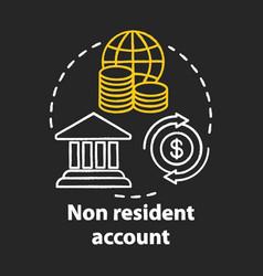 Savings chalk concept icon non resident account vector