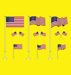set of american flag clip art easy to modify vector image