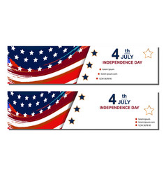 set of fourth of july cards happy independence vector image