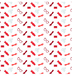 Shopping icons seamless pattern womens accessories vector