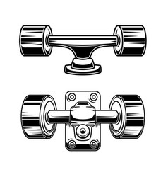 skateboard wheels design element for logo label vector image