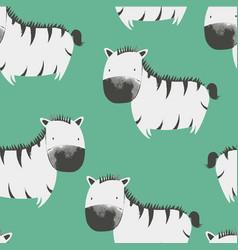Sketch zebra seamless pattern for boys vector