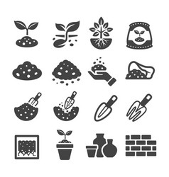 Soil icon vector
