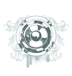 Speaker emblem vector