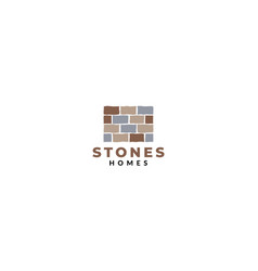 Stone rock brick home house real estate wall vector