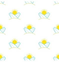 Surfboards and sun seamless pattern in vector