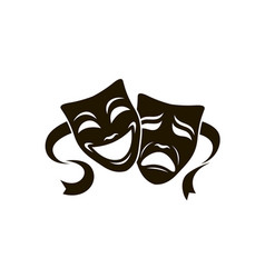 Theatrical masks set vector