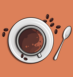 time for an appetizing coffee image vector image