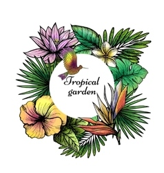 Tropical Frame Design vector