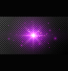 ultraviolet light effects on dark transparent bg vector image