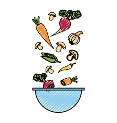 vegetable delicious salad vector image
