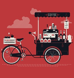Vintage Coffee Cart vector image