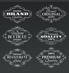 vintage frames banners labels vector image