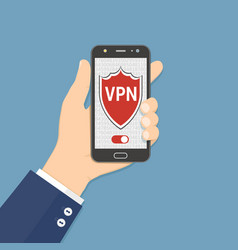 vpn vitual private network proxy application on vector image