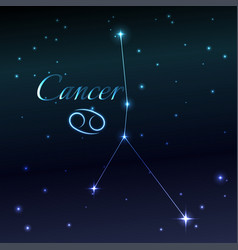 water symbol of cancer zodiac sign horoscope vector image