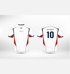 white red and blue pattern sport football kits vector image