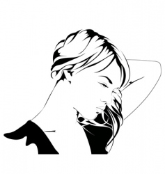 Young woman silhouette vector