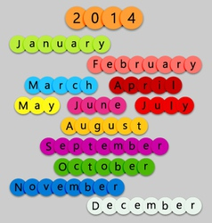 2014-Months-on-fun-circles vector image