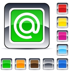 At square button vector image vector image