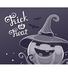 black and white halloween of decorative pump vector image vector image