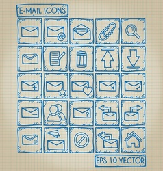 E-mail Icon Doodle Set vector image vector image