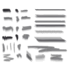 Engraving brushes set vector image vector image