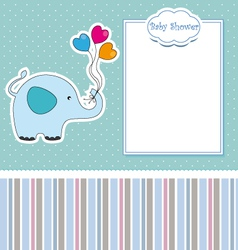 new baby shower card with elephant vector image