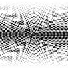 Radial halftone black background pattern vector